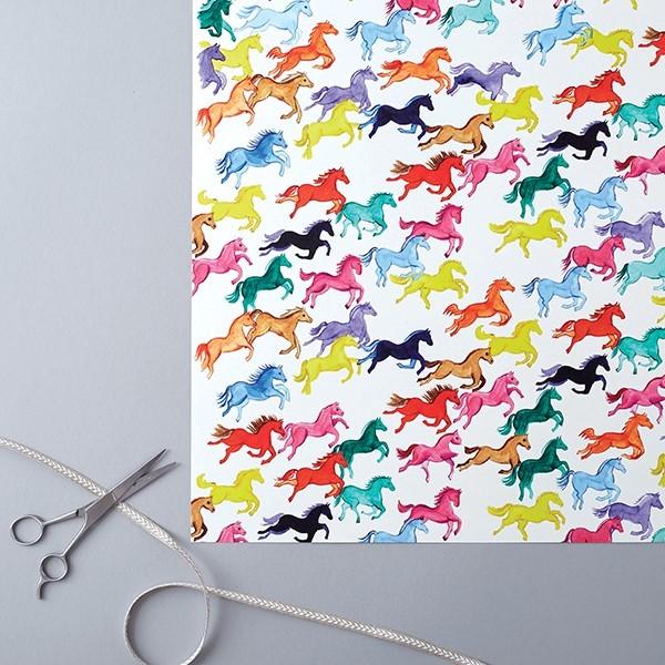 Rainbow Ponies Gift Wrap