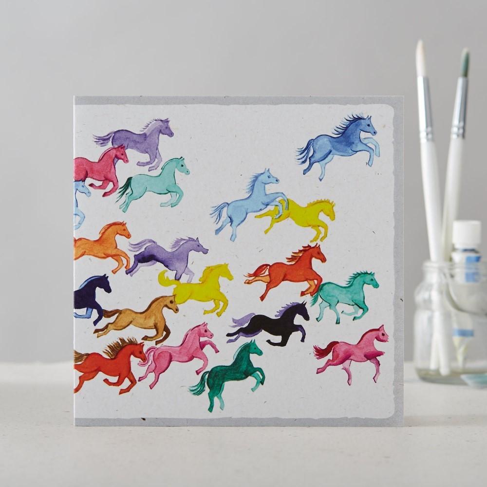 Rainbow ponies card
