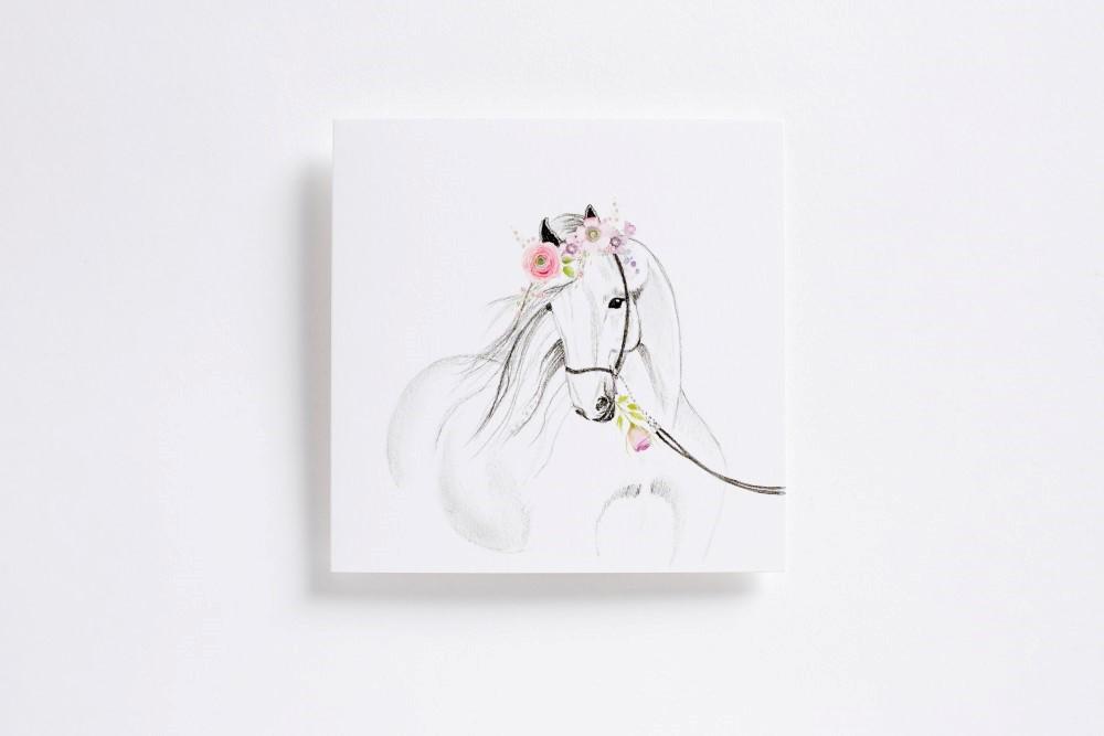 White beauty card