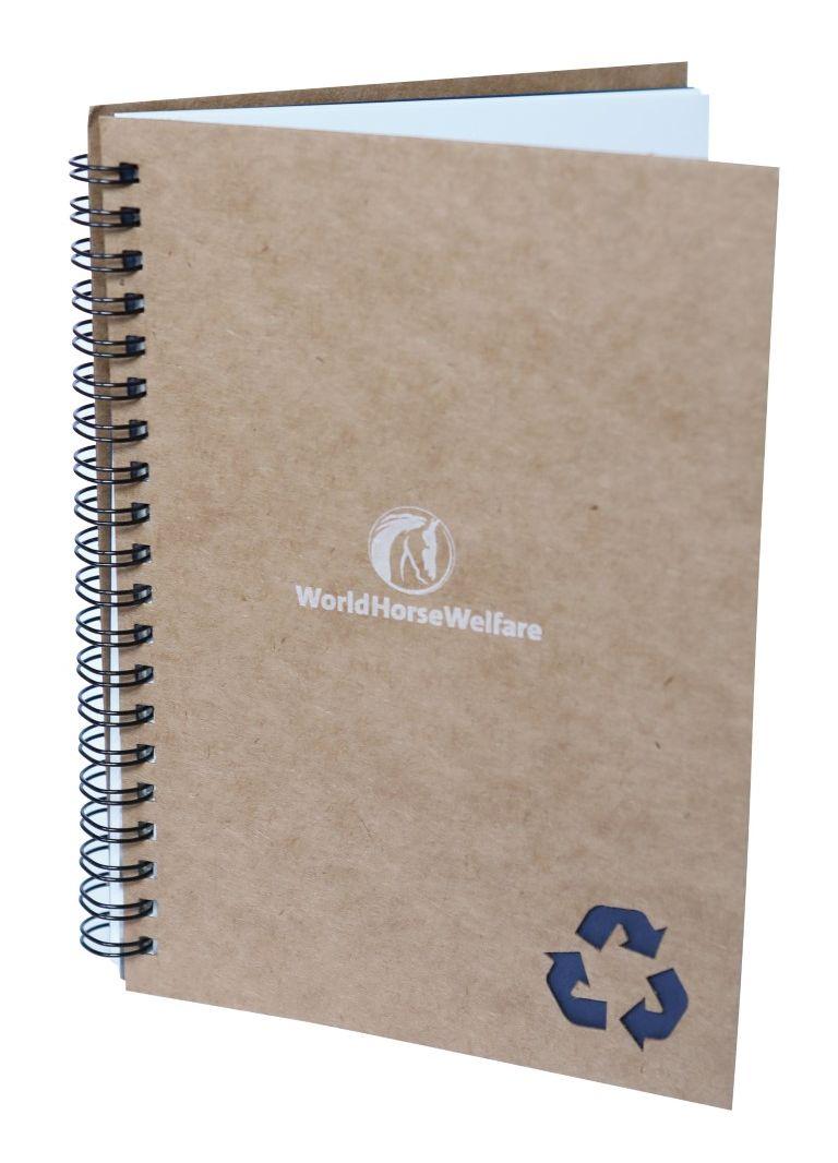 A5 Stone notebook - blue trim
