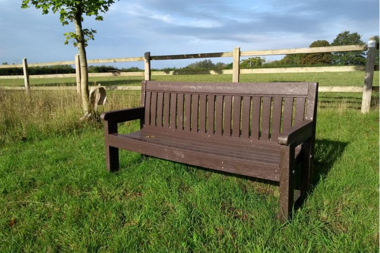 Bench at Glenda Spooner Farm