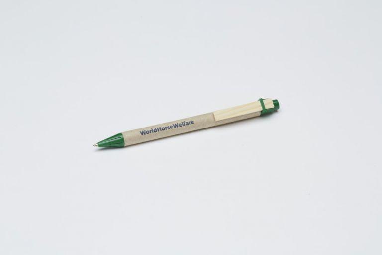 Green eco-retractable ball pen