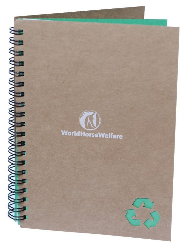 A5 Stone notebook - green trim